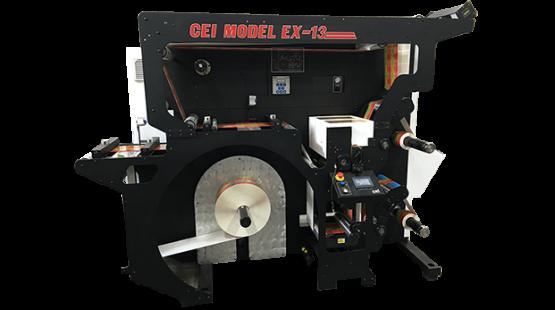 CEI Model EX-13 Label Slitter Rewinder Machine