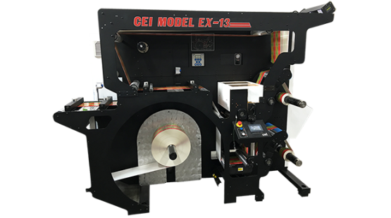 CEI Model EX-13 Label Slitter Rewinder Machine